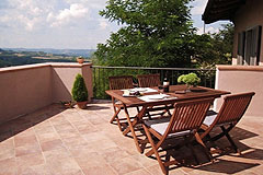 Italian holiday vacation apartment rental business for sale in Piedmont Italy - Terrace area