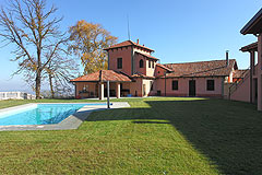 Italian castle with vineyards for sale in Piemonte - Italian wine  business for sale situated in a former castle property.