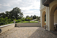 Luxury Property for sale in Piedmont Italy. - Terrace area with panoramic views of the mountains