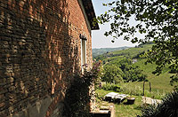 Luxury Country House for sale in Piemonte - Side view of the studio