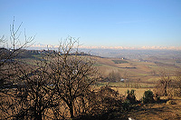 Italian farmhouse renovation project for sale in the Asti area - Incredible mountain views