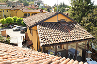 Italian Bed and Breakfast for sale, Alba, Piemonte Italy - Elevated view of the property