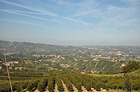 Italian Bed and Breakfast for sale, Alba, Piemonte Italy - Panoramic views from the property