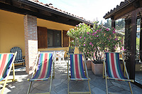 Italian Bed and Breakfast for sale, Alba, Piemonte Italy - Roof top area for guests