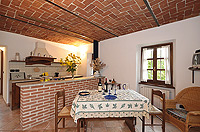 Holiday Rental - Restored Farmhouse 3km from Alba for self catering holidays - Casa Luisa - Kitchen