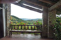 Luxury Country home for sale in Piemonte - Guest terrace area