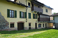 Historic Property for sale in Piemonte Italy. - Back view of the property