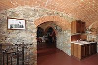 Luxuriöses Haus zum Verkauf im Piemont, Italien - Wine cantina features vaulted ceilings