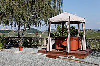 Vacation Rental in Piemonte Italy - Soak in the hot tub with views of the vineyards