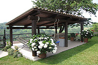 Luxury Country House for sale in Piemonte - Panoramic views from the covered terrrace