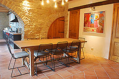 Langhe Stone House and Barn for sale in Piemonte - Dining area