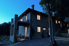 Restored Country Home for sale in Piemonte. - View of the property in the evening