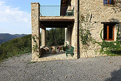Restored Country Home for sale in Piemonte. - Outside terrace area