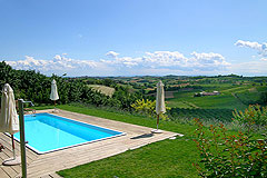 Successful and established business for sale in Piemonte, Italy. - Swimming pool area