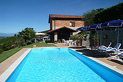 Country estate for sale in Piemonte Italy. - Swimming pool area
