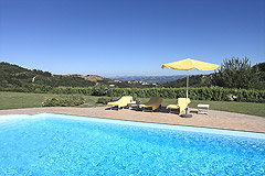 Prestigiosa  villa nelle vicinanze di Canelli - Panoramic views from the pool