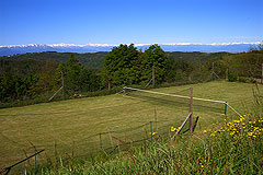 Country Estate for sale in Piemonte Italy. - Play tennis with panoramic mountain views!