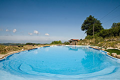 Country Estate for sale in Piemonte Italy. - Natural style swimming pool