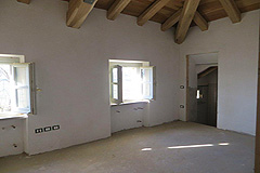 Luxury Italian Apartment for sale in Piemonte - Exposed wooden ceilings are a feature