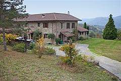 Beautiful Country Home for sale in Piemonte - Luxury Country Estate within 8 hectares of land with swimming pool and independent guest accommodation.