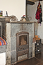 Beautiful Italian Country House for sale in Piedmont. - The fireplace is an attractive feature of the property