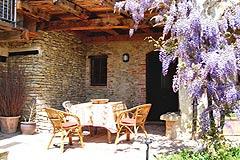 Häusergruppe zum Verkauf im Piemont - House 1 - Terrace area