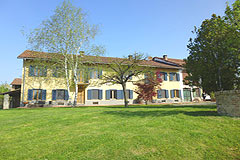 Country Estate for sale in the Asti region of Piemonte - Farm house set upon 5 acres of land including hazelnuts, a vineyard and a woodland for truffle hunting. This property is a great large family home with spacious rooms and a well-defined guest wing.