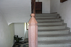Castle for sale in the Piemonte region of Italy - Original stairs