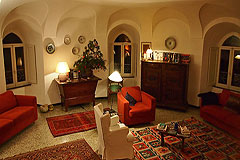 Castle for sale in the Piemonte region of Italy - One of the six round living rooms in the towers