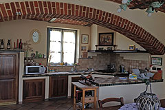 Country House in the Asti region of Piemonte. - Kitchen area