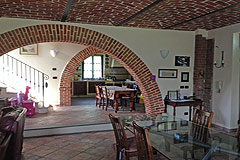 Country House in the Asti region of Piemonte. - Old exposed brick is a feature.