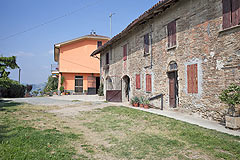 Piemontese farmhouse, Italian Villa and Olive Grove for sale in Piemonte - View of house and barn
