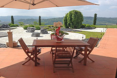 Luxury House with Swimming pool for sale In Piemonte - Terrace area