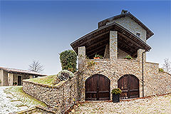 Luxury Country Home for sale in the Piemonte region of Italy - Side View