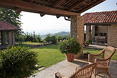 Luxury Country Home for sale in the Piemonte region of Italy - Terrace area