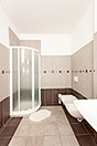 Architect designed Italian villa for sale in Piemonte - Bathroom