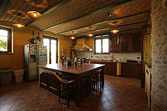 Prestigious Italian villa with Moscato vineyards  for sale in Piedmont. - Kitchen area