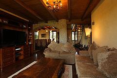 Prestigious Italian villa with Moscato vineyards  for sale in Piedmont. - Living room