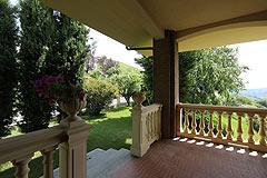Prestigious Italian villa with Moscato vineyards  for sale in Piedmont. - Porch area