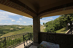 Prestigious Italian villa with Moscato vineyards  for sale in Piedmont. - View from the porch area