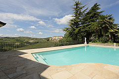 Prestigious Italian villa with Moscato vineyards  for sale in Piedmont. - Pool area