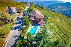 Prestigious Italian villa with Moscato vineyards  for sale in Piedmont. - The property enjoys a vineyard position