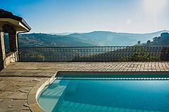 Prestigious Italian villa with Moscato vineyards  for sale in Piedmont. - Panoramic pool views