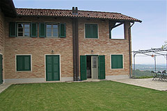 Luxury Country Home for sale in the Langhe region of Piemonte - The property features exposed brick