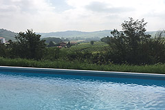 Two Country houses with swimming pool for sale in Piemonte - Pool area
