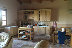 Two Country houses with swimming pool for sale in Piemonte - Kitchen area