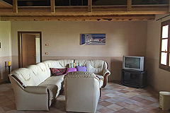 Two Country houses with swimming pool for sale in Piemonte - Living area
