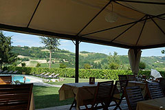 Boutique Hotel with Moscato and Barbera Vineyards in UNESCO area - Outside dining area
