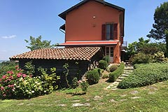 Luxury home for sale in Piemonte Italy - Side view of the property