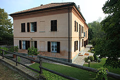 Luxury Equestrian Property for sale in Piemonte Italy - Side view of the property